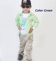 длинный рукав дети рубашки с 6 цветов, дети рубашка мальчики рубашки дети одежда дети одежда hts802