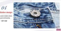 последние бесплатная доставка мода бизнес - класс стирки 100% хлопок корейский джинсы для мужчин синие середине брюки