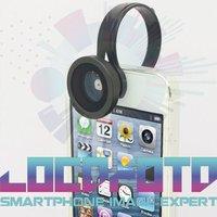 180 рыбий глаз клип на мобильный телефон объективным для для iPhone 4 5 samsung Galaxy С3 С4 универсальный для рождественский подарок lf3898-1