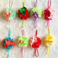 европа и америка горячая распродажа новорожденных девочек аксессуары для волос кружево сетки цветы с ГБО алмазов дети высокое - класс ободки 36 компл. fd180