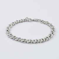 оптовая продажа 2015 мода посеребренная нержавеющей стали металлические браслеты цепочка снаряженная браслет мужские ювелирные изделия