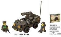 бесплатная доставка! sluban строительный блок двустволку автомобиля в 3D головоломки - образование-монтажные игрушки для детей 102 шт