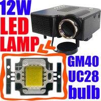12 вт из светодиодов лампы для мини-проектор uc28 uc28 + gm40 блок, proyector лампы через замена цели, повышения яркости, бесплатная доставка
