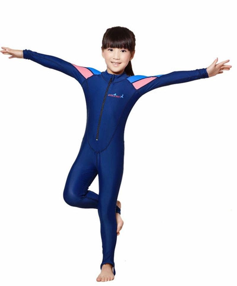 LS-C01-2 Full Dive Skin for Children Kids Stinger Suit Diving Suit Wetsuit  Sun Protection Swimwear