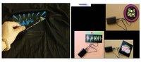 Эль T - рубашки, т рубашка, футболки эквалайзер, звук активный Эль футболке, Эль музыка мигающий футболка, из светодиодов футболка 77021a