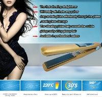 """Мода дизайн 360, вращающийся на 1"""" профессиональный вибрация упаковка титана бразильское выпрямление волос плоское железо 470 f штепсельной вилкой"""