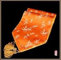 бесплатная доставка новый стиль бамбука цветы глазет флаг настольный бегун