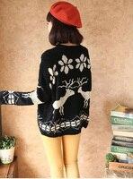 новое женщин олень трикотажные и пиджаки 4 цвета полный рукав пуловер трикотажные свитера 1559