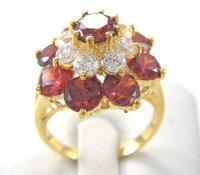 сша размер8 новое мужской / женский ювелирных 5.86 карат великолепный крови рубин в 14к желтый золотое кольцо