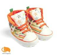 мальчики-младенцы девочки наивысшее брезент обувь брезент, высокая верхней мягкий подошвой, детские prewalkers