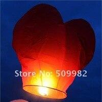 10 шт./лот + бесплатная доставка заводские в форме сердца любовь летающие фонарики для свадьбы рекламные подарок нло неба желая фонари