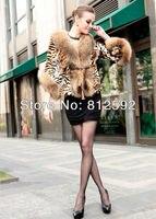 мода мех енота леопарда кошка тигр кожа женщин из натуральной кожи шуба
