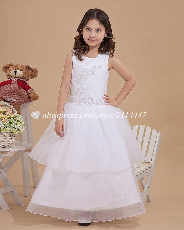 самое новое самое лучшее прод бесплатная доставка на заказ линии соц рукавов из органзы белый цветок девушка платье с приложений #fd6