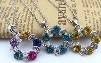 бесплатная доставка мода женская ожерелья cel подарок для леди кристалл