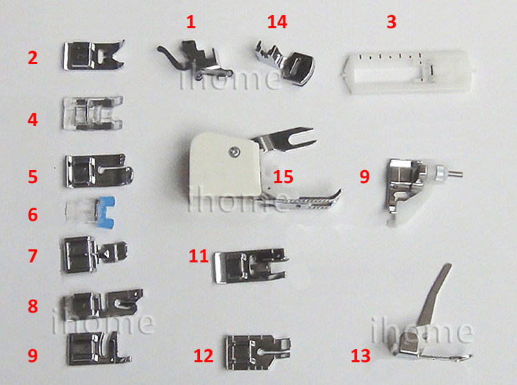 Online Shop 15pcs/set High Quality Sewing Presser Foot for Singer ... : quilting foot singer - Adamdwight.com