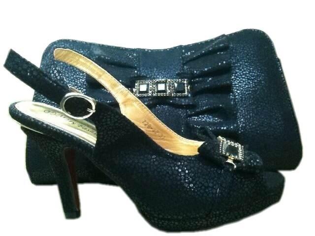 бесплатная доставка обувь и сумки, чтобы соответствовать итальянский туфли и комплект сумок для свадьбы и ну вечеринку сверкающих серебро - серый sh004 небольшой размер 37 - 41