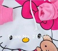 6 шт./лот бесплатная доставка привет котенок девушка одежда футболки детскую одежду с длинным рукавом дети детской одежды детям майка