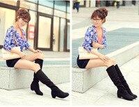 новая ремонт весна более-сапоги плоские два высокая-нога способа резинка женская обувь ботинки