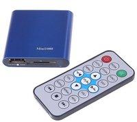 1080 p полный HD плеер мини - медиаплеер с дистанционным управлением через HDMI выход поддержка USB / памяти SD форматов MKV / РМ / RMVB + бесплатная доставка