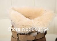 бесплатная доставка женская загрузки эш крупного рогатого скота шерсть мех и пряжки в один лифт клинья снегоступы скраб из натуральной кожи