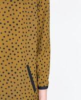 туника платье шифон, женщины модный узор в горошек печать воротник-лодочка свободного покроя кожа туннель 2058 / 119