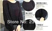 бесплатная доставка на сайте объявлений, толщиной с круглым вырезом ретро хвоствик широкий свитер