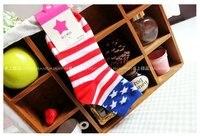 минимальный заказ $ 10 в розницу творческий полосы Flag - Ton звезда осенние носки