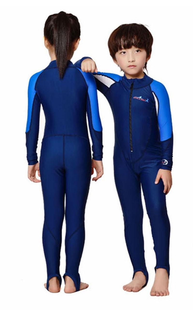 LS-C01-5 Full Dive Skin for Children Kids Stinger Suit Diving Suit Wetsuit  Sun Protection Swimwear