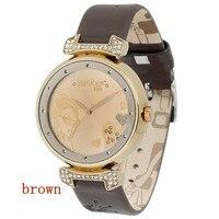 женщины платье часы стразы женщины часы, кожа ремень кварцевый часы для женщины ЛГ - 042