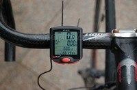 большой экран водонепроницаемый велоспорт цикл компьютер пробега спидометр кабель секундомер