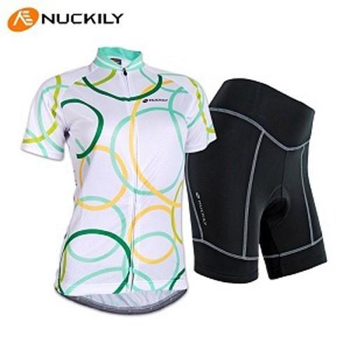 д-3 марка nuckily быстросохнущие пот женская спортивная велосипедов велоспорт носить короткие джерси велосипед одежда комплект