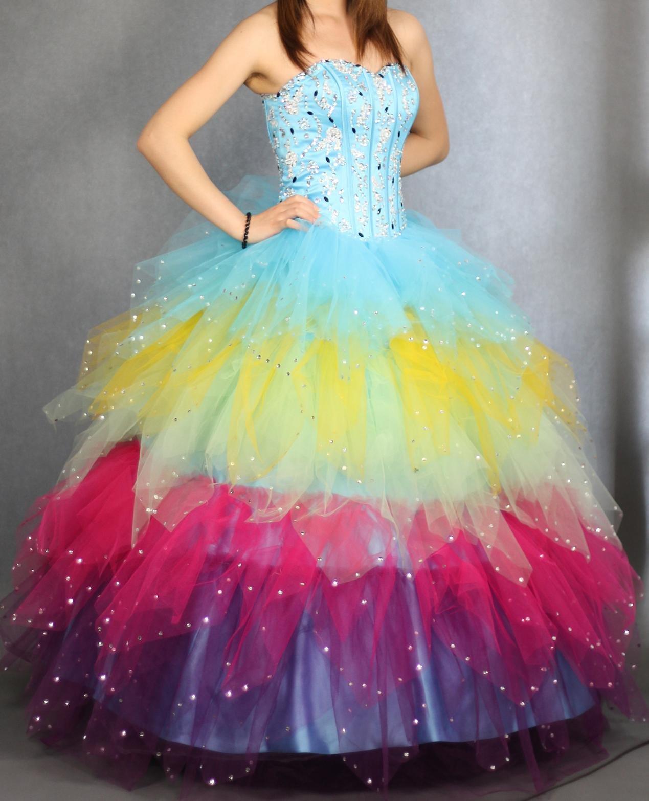 Rainbow Gown Dresses
