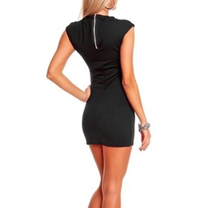 платье без рукавов, полые лето сексуальный клуб топы женщины черный синий горячая т-206