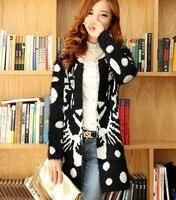 cl980 стиль европейский бренд шерсть головы тигра мохер кардиган пальто вязаный свитер весна осень зима женская леди бесплатная доставка