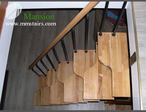 DIY Steel Stairs ( Steel Wood Staircase) Mini Stairs ( Alternated Steps  Stairs )