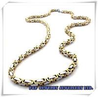 """серебро золото 2-тон нержавеющая сталь мужские ожерелье 21.6 """", н # 005"""
