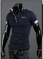 новинка мужская свободного покроя стиль рубашки поло тонкий подходят с Корк рукавом свободного покроя футболка бесплатная доставка