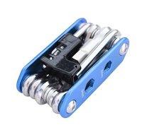 14 в 1 многофункциональный велосипед ремонт наборы инструментов синий