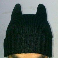 бесплатная доставка прекрасный кот уха дизайн пряжи крышка чистый цвет моды шляпа