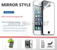 обеспечение качества, дешевой цене, 10 шт. много для яблоко, iPhone 5 переднее зеркало защитный экран фильм + пакет