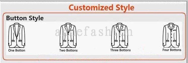 Men's Tailor Made Black Suit Sets Wedding Dress Suit Classic Groom Wear Tuxedo Jacket With Pant(Jacket+bowtie+Pant) 32
