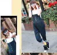 для беременных джинсовый брюки лямки брюки для беременных женщины одежда одежда м L тёмно-синий
