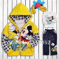 горячая распродажа мода минни девушка комплект синий красный желтый детские костюмы для детей комплект дети костюм детская одежда бесплатная доставка