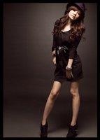 отличное качество, элегантный мода с V-bras изделия популярные горячая распродажа с длинным рукавом осень и зима платье