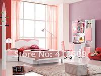 детская комната мебель комплект - 3 купе, кровать, тумбочка, письменный стол, книжный шкаф сигле : 693 # розовый и белый )