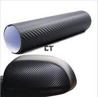3d30cm x127cm углеродного волокна наклейка виниловый лист черный для всех автомобилей бесплатная доставка
