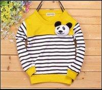 бесплатная доставка детские футболки 4 цветов в мультфильм медведь 3-7лет с длинным рукавом футболка для мальчиков