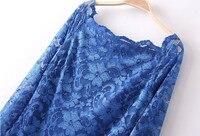 бесплатная доставка женщин новинка дизайн очаровательная ключицы воротник винтаж sixy кружевное платье