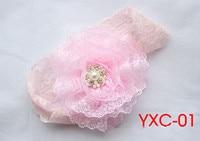 в розницу 1 шт. новый продукт дети аксессуары кружево цветы с кристаллы и жемчуг ободки 12 цветов fd204