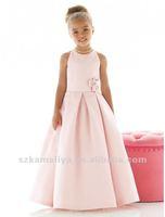 любимый розовый атлас ручной работы цветок MOL выберите средний-икры цветок платье для девочки с поезд